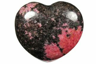 "2.6"" Polished Rhodonite Heart - Madagascar For Sale, #126758"
