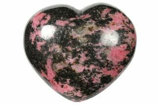 "3.3"" Polished Rhodonite Heart - Madagascar For Sale, #126767"