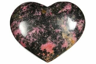 "Buy 4.3"" Polished Rhodonite Heart - Madagascar - #126772"