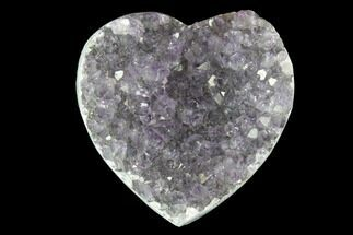 "1"" Amethyst Crystal Cluster Heart - Uruguay For Sale, #128672"