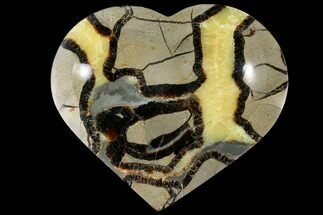 "Buy 6.4"" Polished, Heart-Shaped Septarian Dish - Madagascar - #126793"