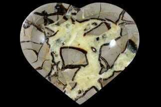 "6.3"" Polished, Heart-Shaped Septarian Dish - Madagascar For Sale, #126794"