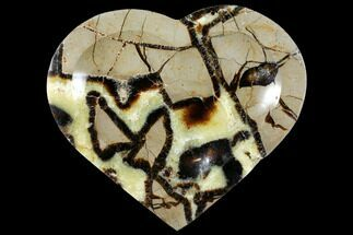 "Buy 6.8"" Polished, Heart-Shaped Septarian Dish - Madagascar - #126796"