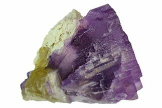 "2.7"" Yellow & Purple Fluorite on Barite - Cave-in-Rock, Illinois For Sale, #128783"