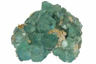 "3.7"" Stepped Blue-Green Fluorite Crystal Cluster - China For Sale, #128870"