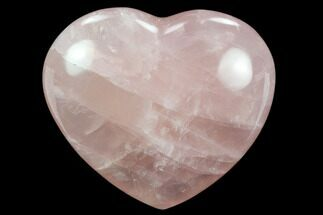 "3.3"" Polished Rose Quartz Heart - Madagascar For Sale, #129020"
