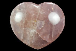 "3.8"" Polished Rose Quartz Heart - Madagascar For Sale, #129023"