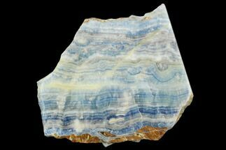 "Buy 4.2"" Polished Slab Of Blue Scheelite In Calcite - Erzurum, Turkey - #129079"