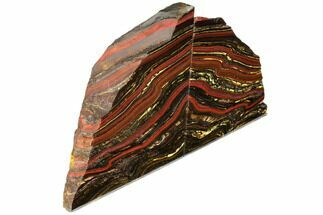 "Buy 5.2"" Polished Tiger Iron Stromatolite Bookends - 3.02 Billion Years - #129427"