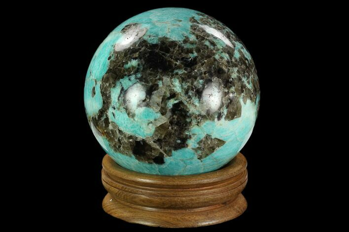"5.1"" Polished Amazonite Crystal Sphere - Madagascar"