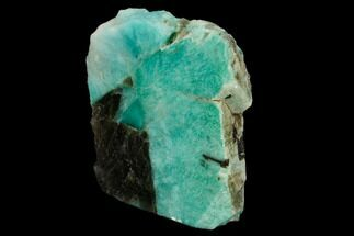 "Buy 3.6"" Tall, Single Side Polished Amazonite - Madagascar - #129904"