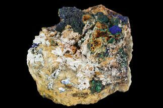 Azurite, Malachite & Dolomite - Fossils For Sale - #128163