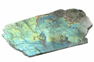 "10"" Flashy, Polished Labradorite Slab - Madagascar For Sale, #129941"