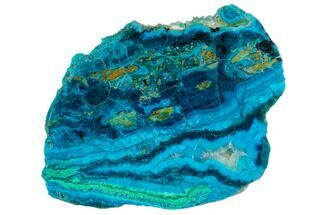 "3.6"" Polished Chrysocolla & Plume Malachite - Bagdad Mine, Arizona For Sale, #130475"