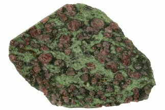 "3.5"" Polished Pyrope, Forsterite, Diopside & Omphacite Slice - Norway For Sale, #131441"