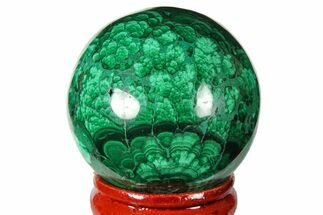 "Buy 1.55"" Polished Malachite Sphere - Congo - #131845"