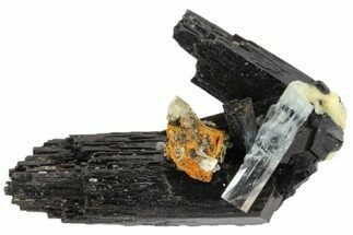 "1.55"" Aquamarine On Schorl With Orthoclase Feldspar - Namibia For Sale, #132137"