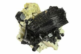 "2.85"" Black Tourmaline (Schorl) Crystals with Orthoclase - Namibia For Sale, #132224"
