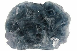 "Buy 4.2"" Blue-Green, Cubic Fluorite Crystal Cluster - China - #132781"