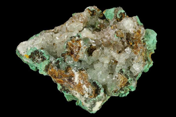 "2.9"" Malachite and Calcite Association - Zacatecas, Mexico"