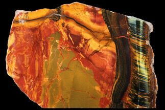"8.2"" Marra Mamba Tiger's Eye Slab - Mt. Brockman (2.7 Billion Years) For Sale, #133085"