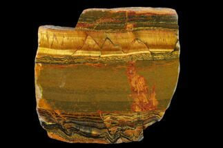 "3.3"" Marra Mamba Tiger's Eye Slab - Mt. Brockman (2.7 Billion Years) For Sale, #133061"