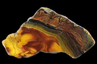 "7.3"" Marra Mamba Tiger's Eye Slab - Mt. Brockman (2.7 Billion Years) For Sale, #133070"