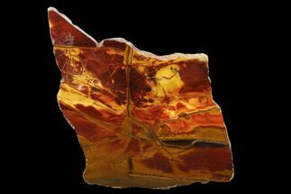 "6.2"" Marra Mamba Tiger's Eye Slab - Mt. Brockman (2.7 Billion Years) For Sale, #133073"
