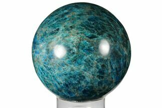 "Buy 4.35"" Bright Blue Apatite Sphere - Madagascar - #133093"