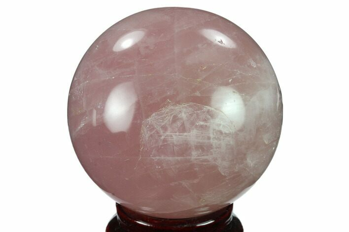 "2.4"" Polished Rose Quartz Sphere - Madagascar"