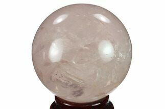 "Buy 2.45"" Polished Rose Quartz Sphere - Madagascar - #133780"