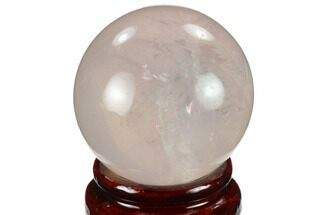 "1.85"" Polished Rose Quartz Sphere - Madagascar For Sale, #133826"
