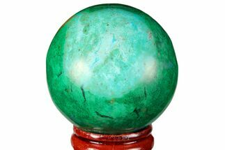 "1.8"" Polished Chrysocolla & Malachite Sphere - Peru For Sale, #133742"