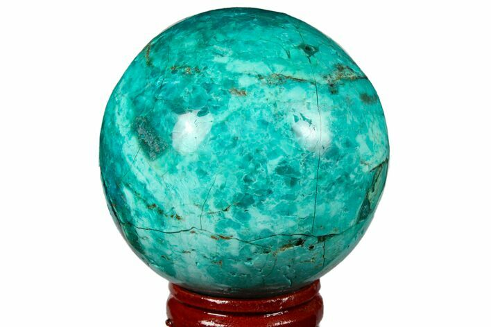 "2.1"" Polished Chrysocolla Sphere - Peru"