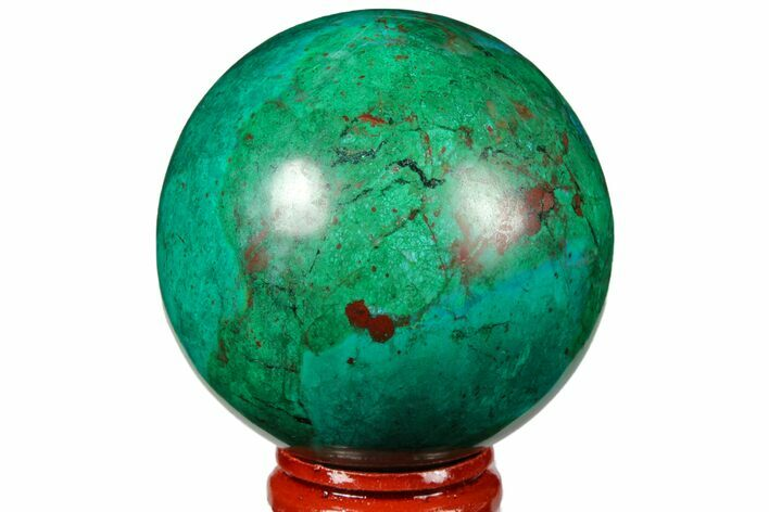 "2.2"" Polished Chrysocolla & Malachite Sphere - Peru"