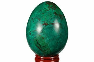 "2.55"" Polished Chrysocolla & Malachite Egg - Peru For Sale, #133793"
