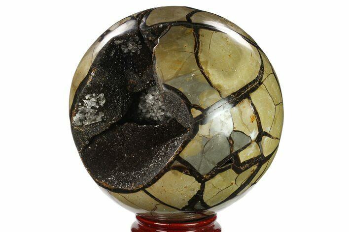 "6.8"" Polished Septarian Geode Sphere - Madagascar"