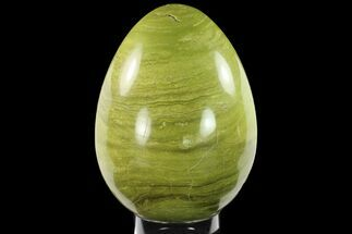 "9.6"" Polished Green Opal Egg - Madagascar For Sale, #134546"