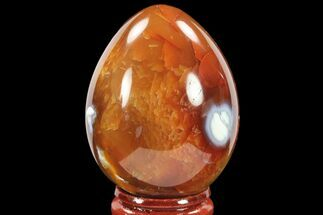 "2.2"" Colorful, Polished Carnelian Agate Egg - Madagascar For Sale, #134552"