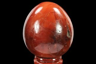 "2.2"" Colorful, Polished Carnelian Agate Egg - Madagascar For Sale, #134555"