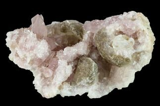 Quartz var. Pink Amethyst & Calcite - Fossils For Sale - #134781