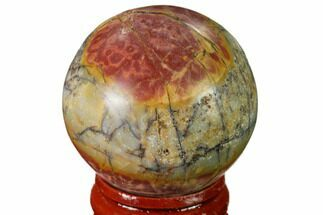 "1.55"" Polished Cherry Creek Jasper Sphere - China For Sale, #136130"
