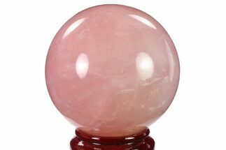 "Buy 4.65"" Polished Rose Quartz Sphere - Madagascar - #136288"