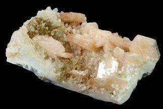 Stilbite & Quartz var. Chalcedony - Fossils For Sale - #135822