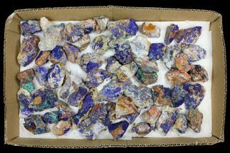Wholesale Lot: Azurite & Malachite Clusters - 57 Pieces For Sale, #137921