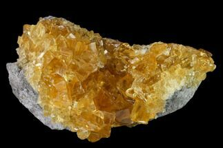 "Buy 4.1"" Lustrous Yellow Calcite Crystal Cluster - Fluorescent! - #138070"
