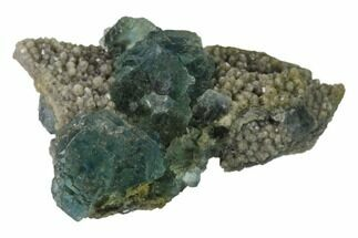 "2.2"" Blue-Green Fluorite Crystals on Quartz - China For Sale, #138077"
