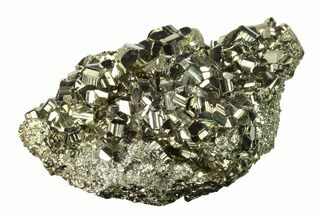 "3.9"" Gleaming Pyrite Crystal Cluster - Peru For Sale, #138140"