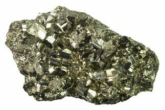 "4.3"" Gleaming Pyrite Crystal Cluster - Peru For Sale, #138143"