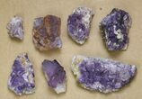 "Wholesale Lot: 1.4 to 3.5"" Purple Fluorite Clusters - 16 Pieces - #138126-2"